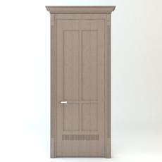 Wooden Door and Casing 3D Model