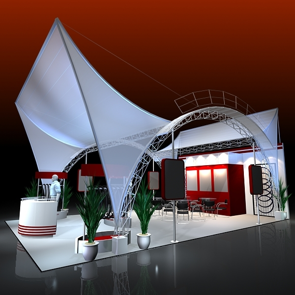 Exhibition Stand 3d Model Sketchup : Exhibit booth design d model