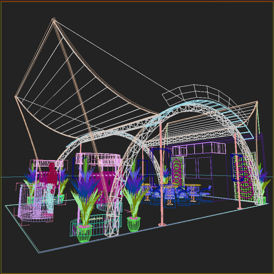 Exhibition Stand Sketchup : Exhibit booth design d model