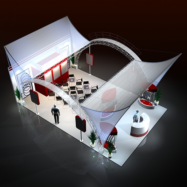 Exhibition Stall Design Software Free Download : Exhibit booth design d model
