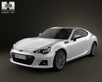 Subaru BRZ 2013 3D Model