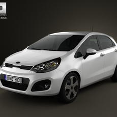 Kia Rio 5door 2012 3D Model