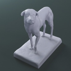 The Lost Dog Sculpture (printable .stl .dae) 3D Model