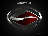 Land Wind 3d Logo 3D Model