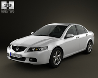 Honda Accord sedan UK 2003 3D Model
