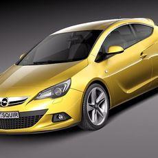 Opel Astra GTC 2012 3D Model
