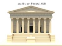 Wall Street Federal Hall 3D 3D Model