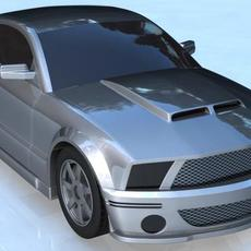 ford gt-500 (2007) 3D Model