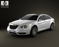 Chrysler 200 sedan 2011 3D Model