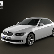 BMW 3 series Coupe 2011 3D Model
