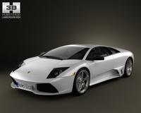 Lamborghini Murcielago LP640 2006 3D Model