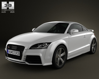 Audi TT RS Coupe 2010 with HQ Interior 3D Model