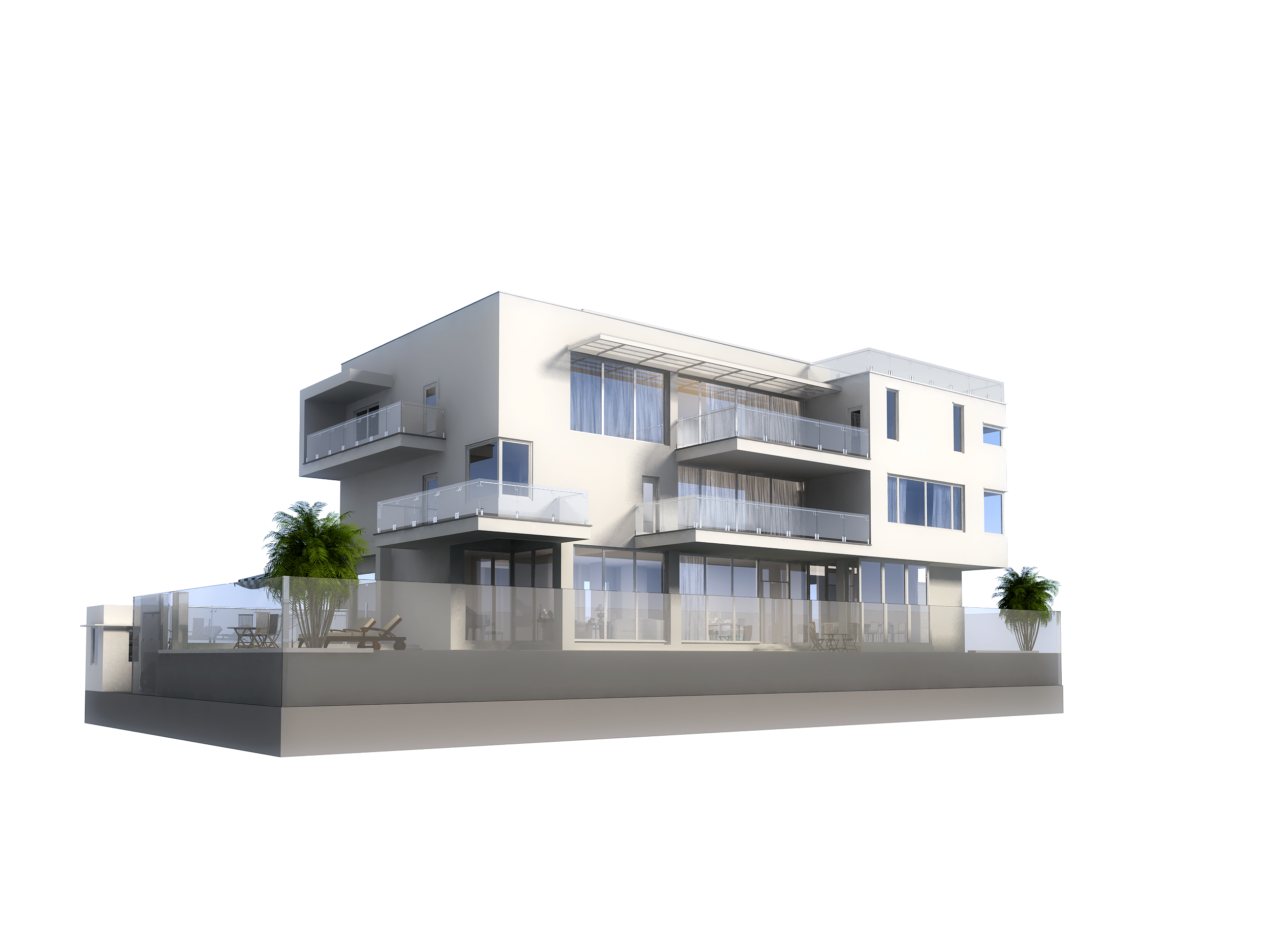 3d model luxury contemporary house with pool 3d model for Contemporary model house