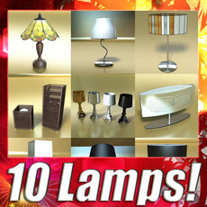10 Modern Table Lamps Collection 3D Model
