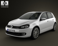 Volkswagen Golf 5door 2009 3D Model