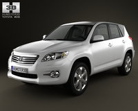 Toyota Rav4 European 2012 3D Model