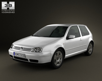 Volkswagen Golf IV 3door 2007 3D Model