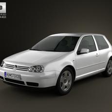 Volkswagen Golf IV 3door 2007 3D Model