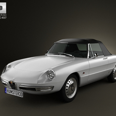 Alfa Romeo 1600 Spider Duetto 1966 3D Model