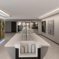 Canteen interior 001 3D Model