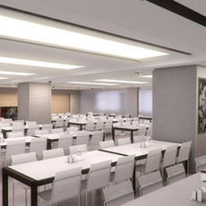 Canteen interior 002 3D Model