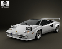 Lamborghini Countach 5000 QV 1985 3D Model