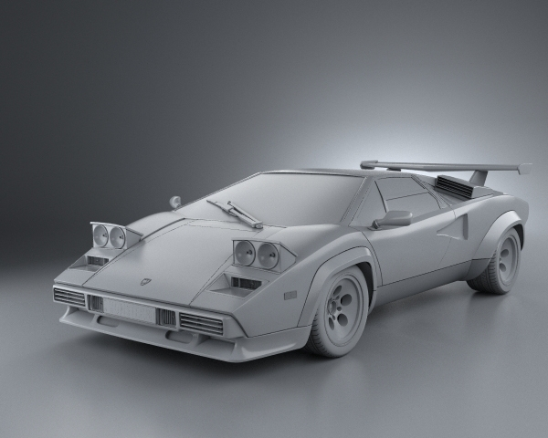 lamborghini countach 5000 qv 1985 3d model. Black Bedroom Furniture Sets. Home Design Ideas