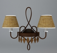 Detailed Sconce Lamp 3D Model