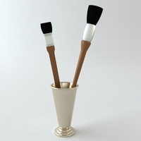 Artists brushes 3D Model
