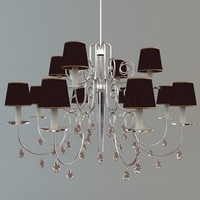 Detailed Photoreal Chandelier 3D Model