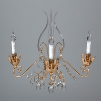 Antique Detailed Sconce Light 3D Model