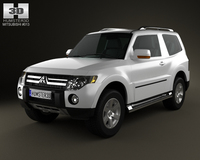 Mitsubishi Pajero 3door 2009 3D Model