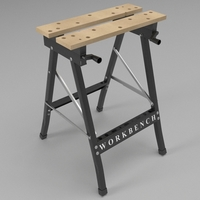 Folding workbench 3D Model