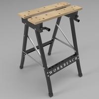Folding workbench 3D Model