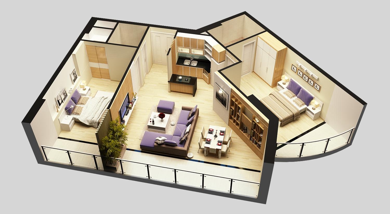 3d model detailed house cutaway view 6 3d model for 3d model home design