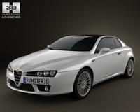 Alfa-Romeo Brera 2011 3D Model