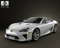 Lexus LFA 2013 3D Model