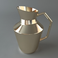 Shiny Metal Pitcher 3D Model