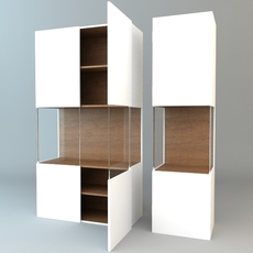 Contemporary Display & Storage Unit 3D Model