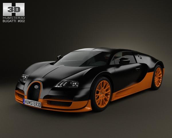 bugatti veyron grand sport world record edition 2011 3d model. Black Bedroom Furniture Sets. Home Design Ideas