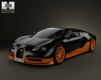 Bugatti Veyron Grand-Sport World-Record-Edition 2011 3D Model