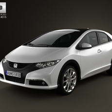 Honda Civic EU 2012 3D Model