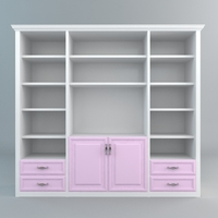 Display & Storage Cabinet 3D Model