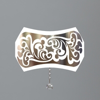 Ornate Contemporary Wall Sconce 3D Model