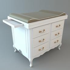 Baby Diaper Changing Dresser 3D Model