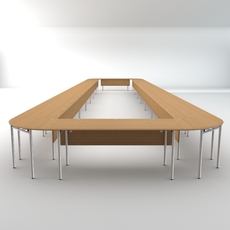 Long Conference Table 3D Model