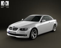 BMW 3 series Convertible 2011 3D Model