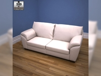 IKEA VRETA three-seat sofa 3D Model
