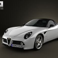 Alfa-Romeo 8c Spider 2011 3D Model