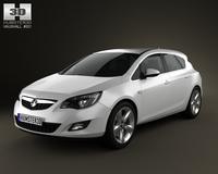 Vauxhall Astra Hatchback 5-door 2011 3D Model